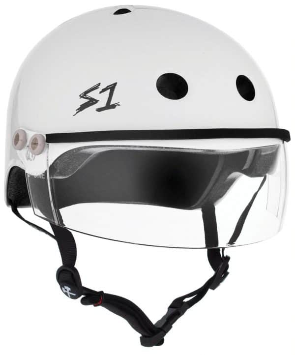s1 Lifer Visor Roller Derby Helmet White Gloss