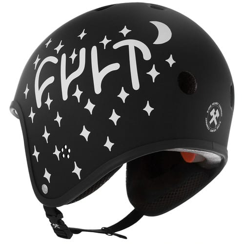 S1 Retro Lifer Certified Helmet Black Matte Cult Collaboration