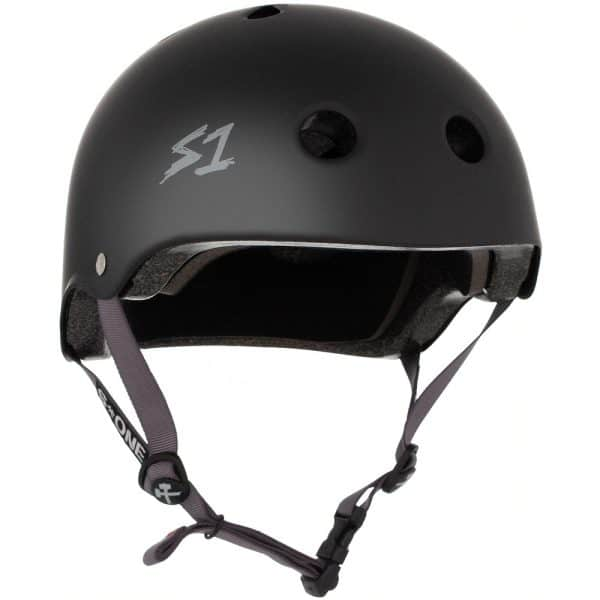 S-One Helmet Lifer (XS) Black Matte/Grey Straps