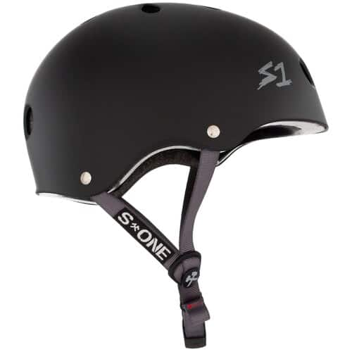 S-One Helmet Lifer (XL) Black Matte/Grey Straps