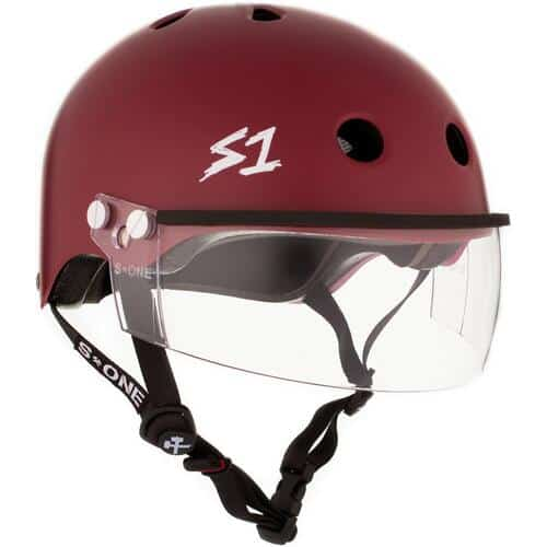 S-One Helmet Lifer Visor (XS) Maroon Matte