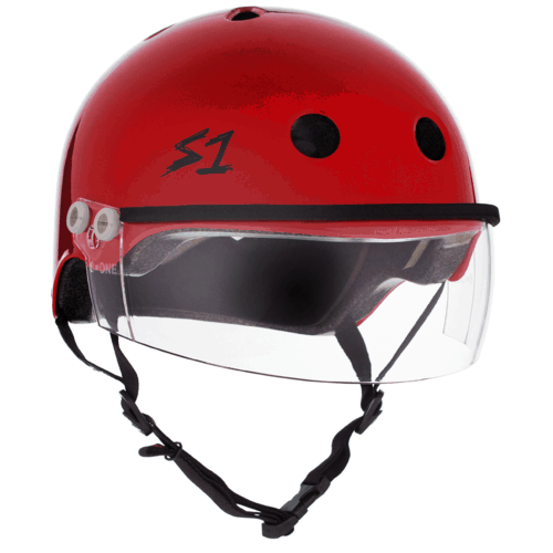 S-One Helmet Lifer Visor (XS) Red Gloss