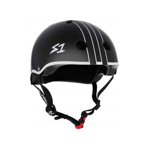 S-One Helmet Mini Lifer (XS) Black Matte w/ White Outline Gavo Collab