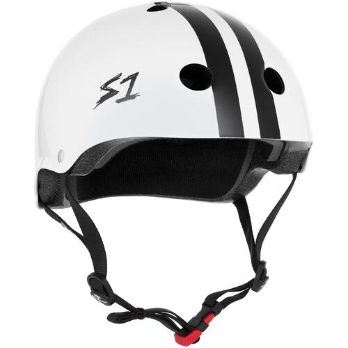 S-One Helmet Mini Lifer (XS) White Gloss/Black Stripe